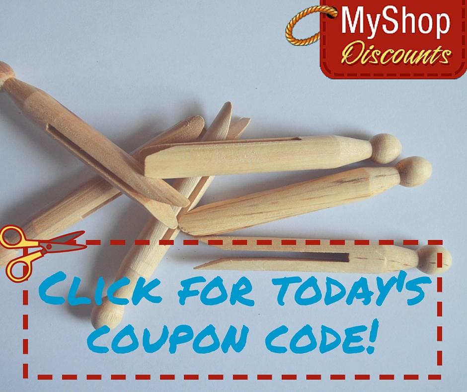 MyShop coupon template clothespin