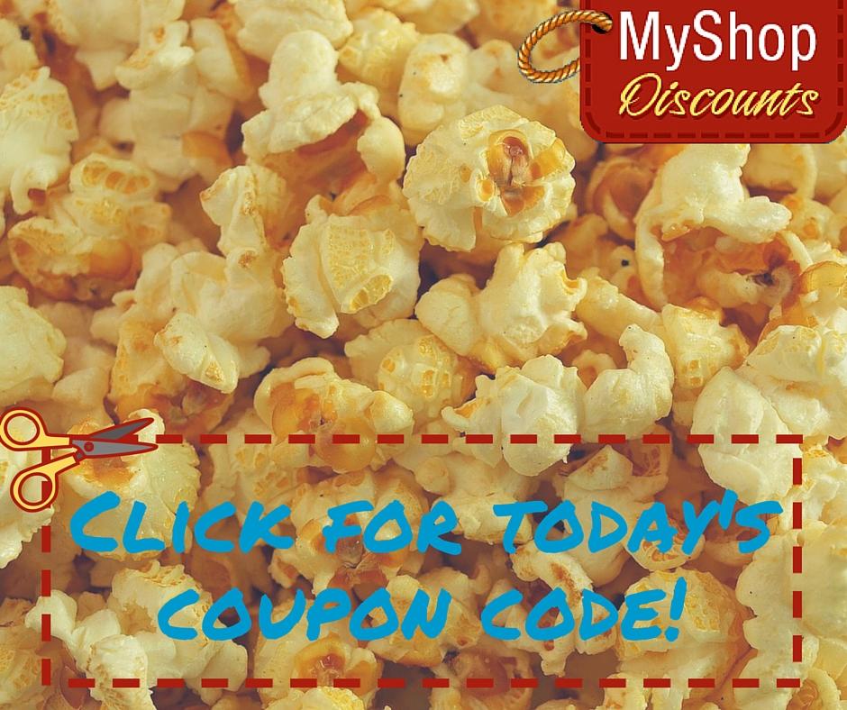 MyShop coupon template popcorn