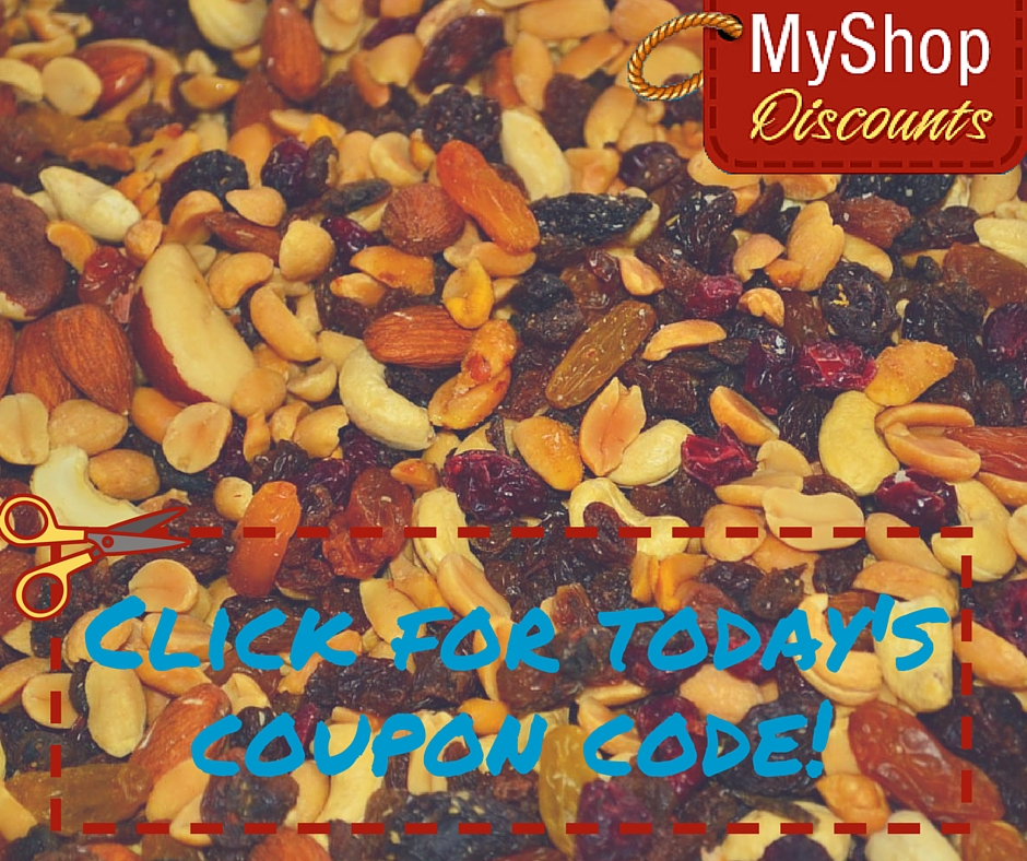 MyShop coupon template trail mix