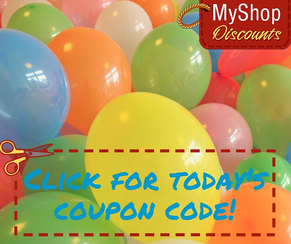 MyShop coupon template balloons