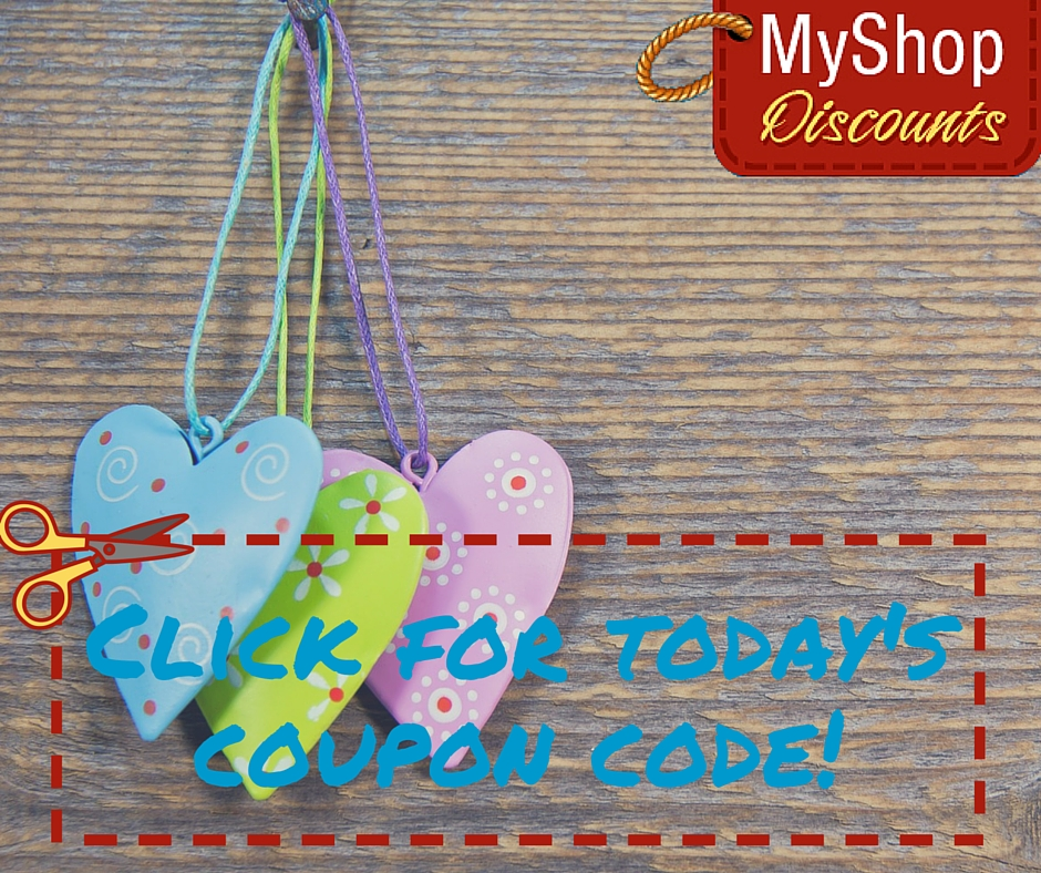 MyShop coupon template hearts
