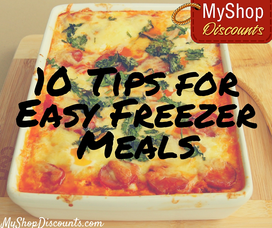 tips for easy freezer meals freezer cooking tricks recipes healthy save money save time moneysaving family recipe myshopdiscounts