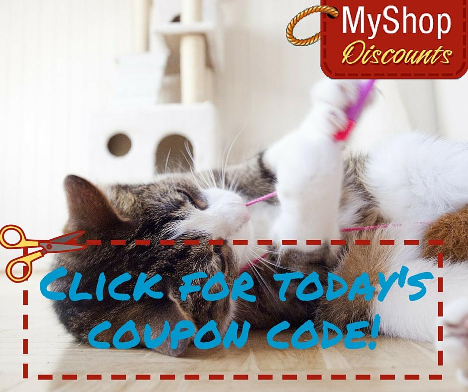 MyShop coupon template playing cat